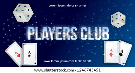 Gaming  banner for online casino, poker, roulette, slot machines, card games.stylish inscription, Big Win