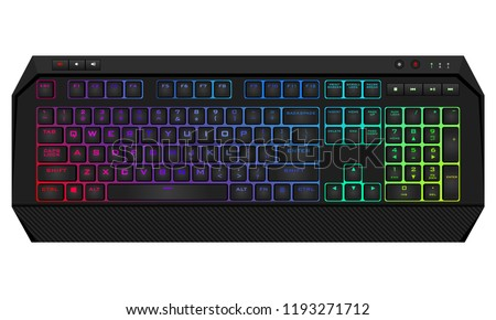 gaming keyboard with led