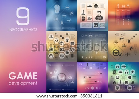 gaming vector infographics with