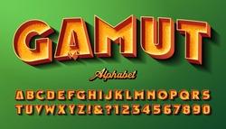 Gamut bold Vintage Style 3d Alphabet