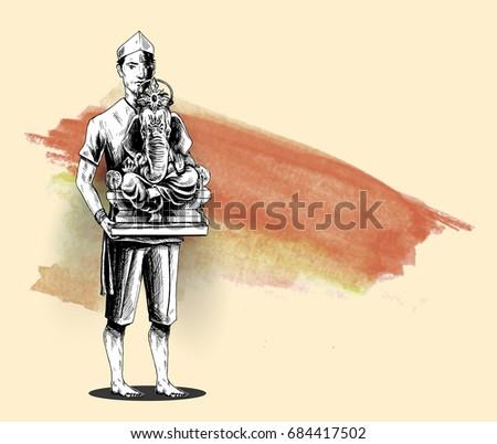 Ganesh Cartoon Vector Download Free Vector Art Stock Graphics