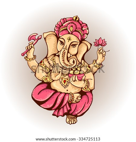 ganesh vector isolated image