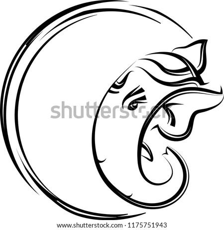 Line Art Ganesha Free Vector Art 12 Free Downloads