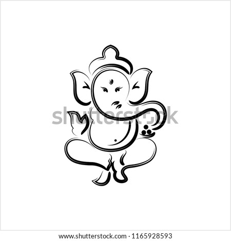Line Art Ganesha Free Vector Art 12 Free Downloads