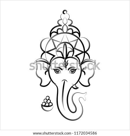 Ganesha The Lord Of Wisdom Design Vector Art Illustration Ez Canvas