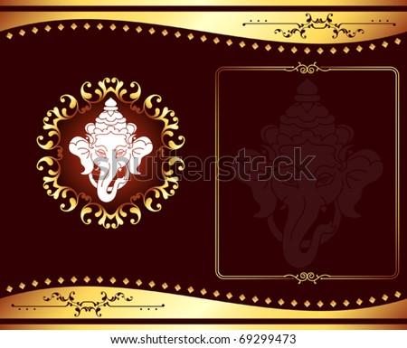 stock vector Ganesha Wedding Card Design