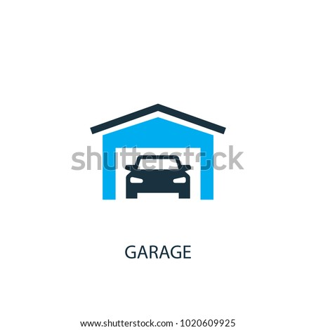 Garage icon. Logo element illustration. Garage symbol design from 2 colored collection. Simple Garage concept. Can be used in web and mobile.