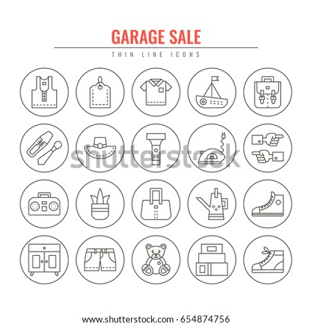 garage sale and yard sale thin...