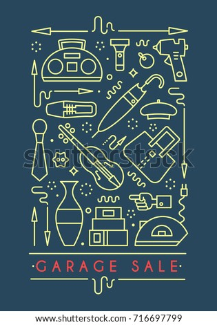 garage sale sign. template for...