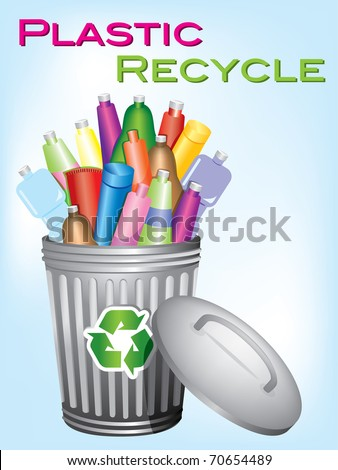 """garbage bin """"plastic recycle"""""""