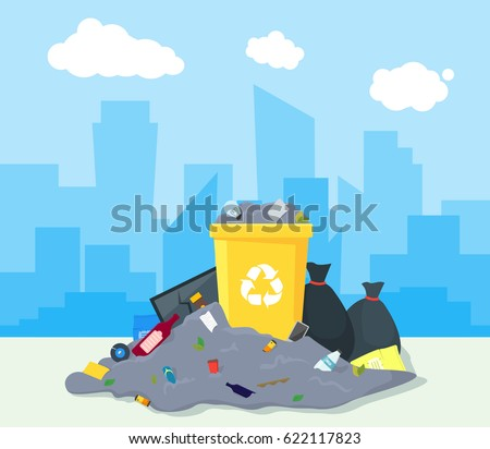 garbage dump or landfill on a