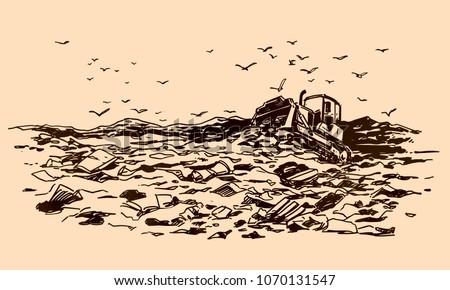 Garbage dump sketch