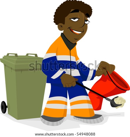 Garbage Man Working