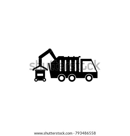 garbage truck icon. Elements garbage icon. Premium quality graphic design icon. Baby Signs, outline symbols collection icon for websites, web design, mobile app on white background