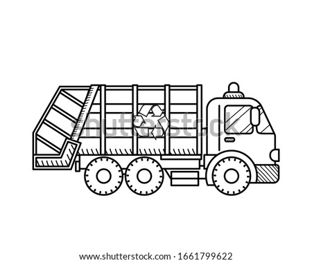 Trash Truck Coloring Page At GetDrawings Free Download