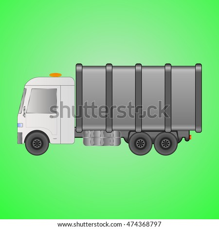 garbage truck machine for
