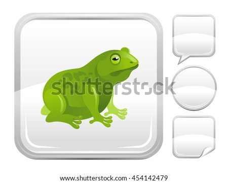 garden animal vector icon with