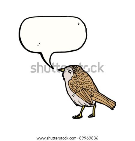 garden bird twittering illustration