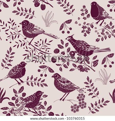 Garden Birds Deco Tile