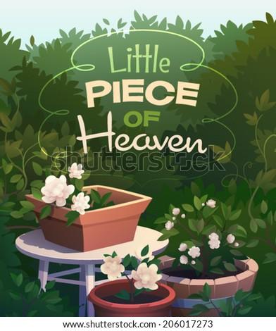 garden card  poster design