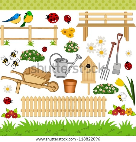 Garden digital collage