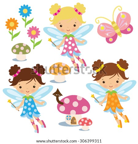 garden fairy vector illustration