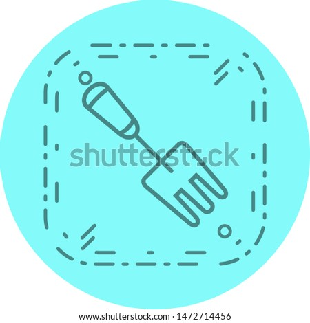 Garden Fork Icon In Trendy Style Isolated Background
