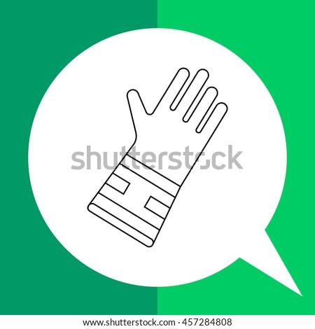 garden glove line icon