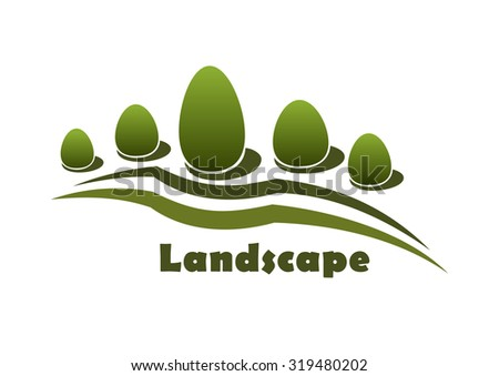 garden or park landscape icon