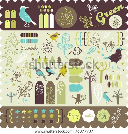 garden scrapbook elements for your projects