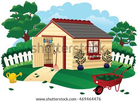 Garden shed. 商業照片 ©