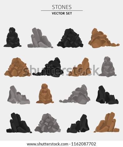 garden stones  rock graphic
