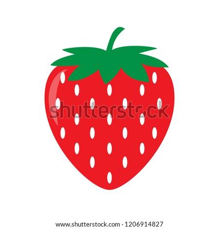 Garden strawberry icon. Vector illustration