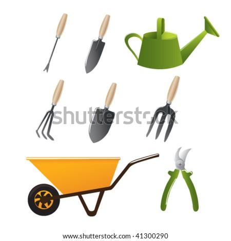 Gardening tools vector quantities