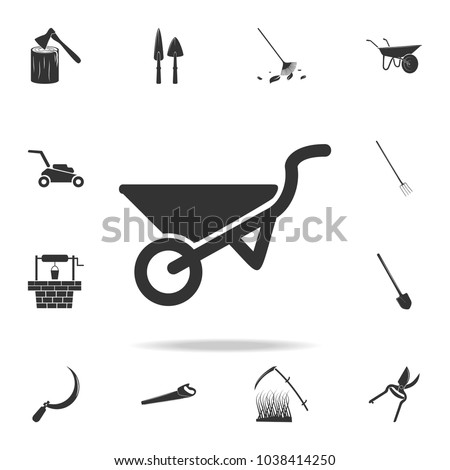 garden trolley icon. Detailed set of garden tools and agriculture icons. Premium quality graphic design. One of the collection icons for websites, web design, mobile app on white background
