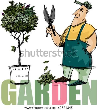 gardener - tree - pruning