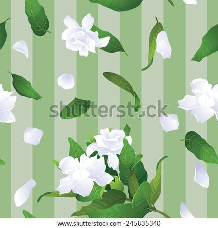Gardenia seamless background