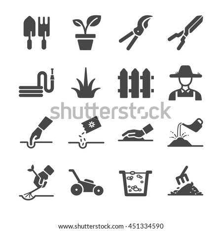 gardening icons included the