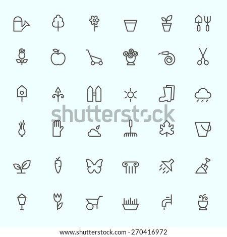 gardening icons  simple and