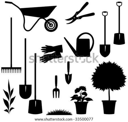 Gardening Items â?? Vector illustration
