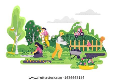 gardening people on garden