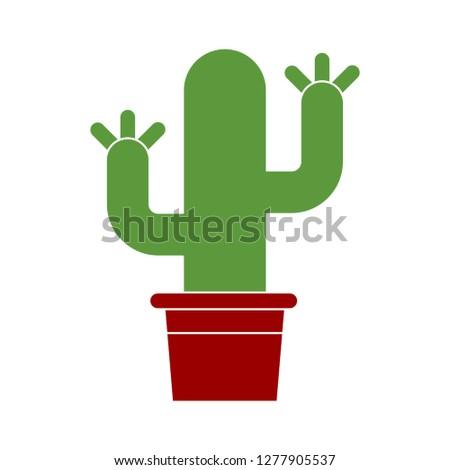 gardening plant icon - plant symbol isolated, plant illustration - Vector