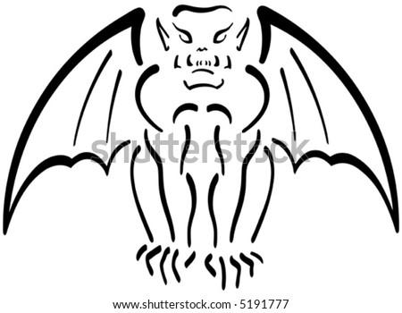 stock vector Gargoyle Illustration