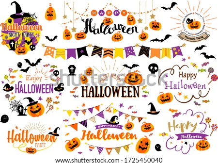 Garland Designs and Illustrations for Halloween