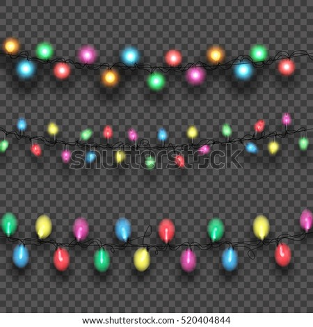 Garlands, Christmas decorations lights effects.