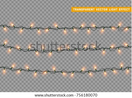 garlands color orange isolated