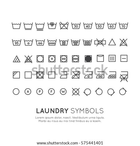 Royalty Free Garment Care Symbols Set The Symbols 570856522 Stock