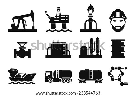 Gas and Oil icons set // 01
