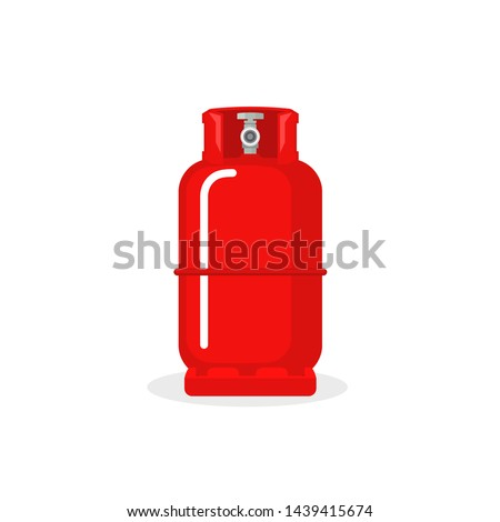 Gas cylinder vector tank. Lpg propane bottle icon container. Oxygen gas cylinder canister fuel storage.