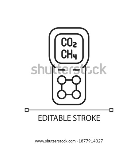 gas detector linear icon
